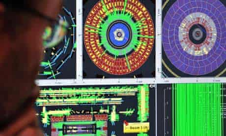 Cern physicist studies readouts from the Large Hadron Collider in Geneva