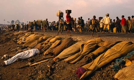 Hutu refugees at UN's Goma camp