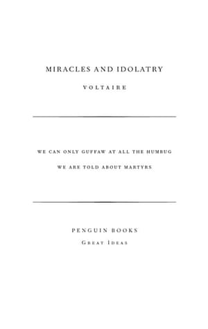books : Voltaire - Miracles and Idolatry