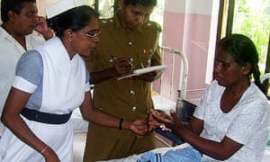 Sri Lankan maid in hospital