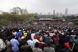 Kenya Constitution: Kenyans watch the procession after the signing of the new constitution
