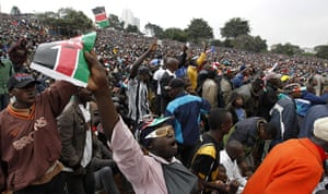 Kenya Constitution: People chant slogans as they attend the Constitution in Nairobi