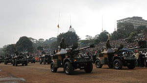 Kenya Constitution: Army vehicles during the ceremony for Kenya's new constitution