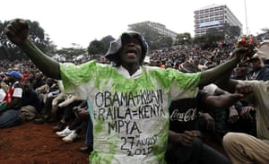 Kenya Constitution: People chant slogans as they attend the ceremony in Nairobi