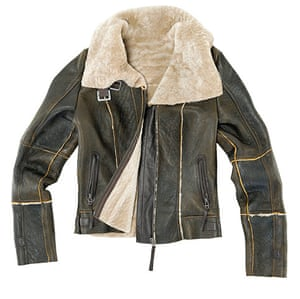 Key trends: Shearling: Leather flying jacket