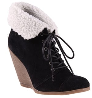 Key trends: Shearling: Wedge boots