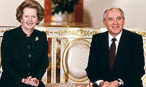 Margaret Thatcher and Mikhail Gorbachev in Moscow in 1987