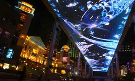 The LED screen at The Place shopping mall in Beijing, China.