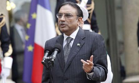 Pakistani president Asif Ali Zardari in Paris