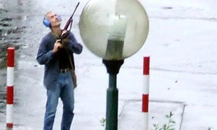 Most Iconic Photos Of Mass Shootings  Bratislava-gunman-006
