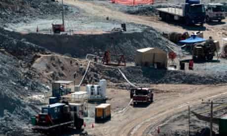 Drill machine, the Strata 950, at Chilean mine