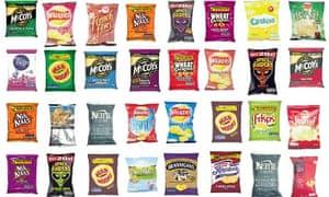 A selection of crisps