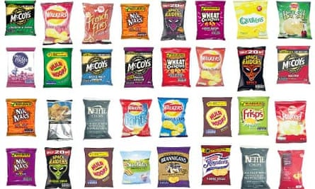 A selection of crisps
