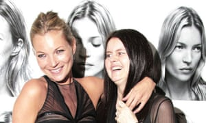 Kate Moss and Corinne Day at the National Portrait Gallery.