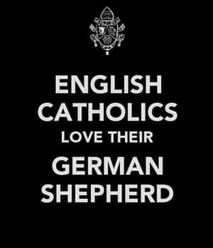 Pope competition: English Catholics love their German Shepherd