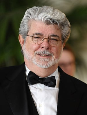 Giving Pledge: George Lucas attends the Academy Of Motion Pictures Awards Gala