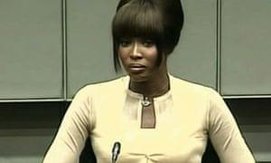 Naomi Campbell at the UN war crimes tribunal