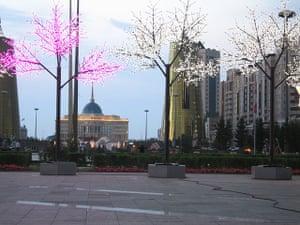 Astana: the presidential palace in Astana