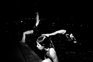 Diving: Members of the Junior Elite division practice their entries