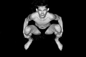 Diving: Ross Haslam mid dive