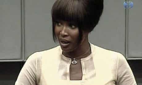 Naomi Campbell testifying at war crimes trial
