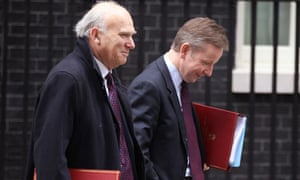 Vince Cable with Michael Gove
