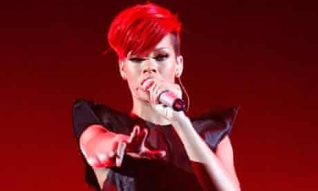 Rihanna performing in Las Vegas