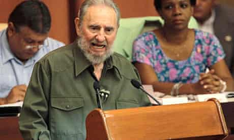 Fidel Castro addresses the Cuban national assembly on 7 August 2010