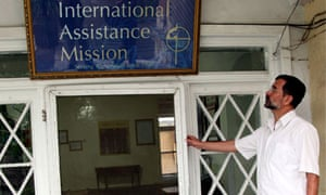 Dirk Frans, director of the International Assistance Mission (IAM) at his office in Kabul