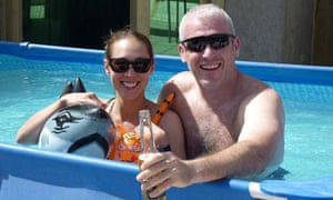Karen Woo and her fiance Mark 'Paddy' Smith.