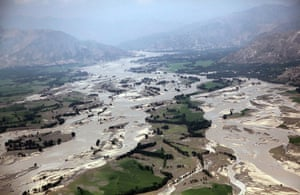 Pakistan aerial: Widespread flood damage over Khyber Pakhtunkhwa