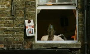 A sex worker in Soho, London