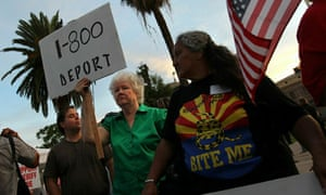 Immigration Law Supporters Hold Rally At Arizona State Capitol