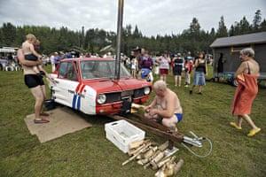 Mobile Sauna Rally: Mobile Sauna Rally in Teuva