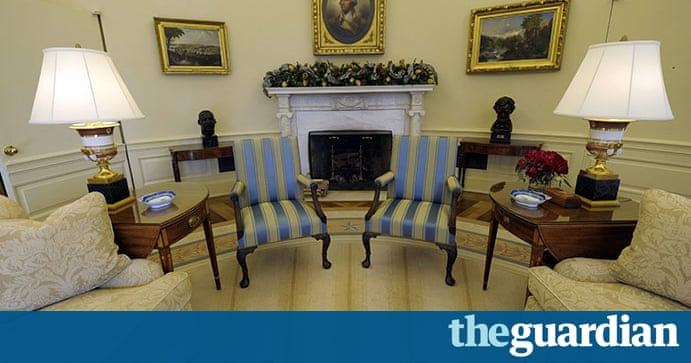 President Obama 39 S Redecorated Oval Office Us News The Guardian