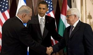 Binyamin Netanyahu, Barack Obama, Mahmoud Abbas