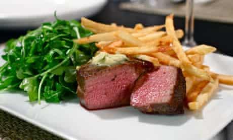 Alex Renton's sous-vide steak.