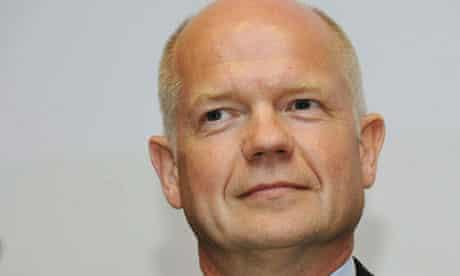 UK Foreign Secretary William Hague deliv
