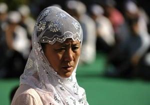 Eid begins: Muslims enter the Nujie Mosque in Beijing, China, during Eid al-Fitr