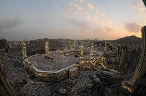 Eid begins: Muslims perform the early morning Eid Al-Fitr prayer in Mecca