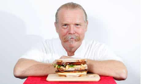 Martin Blunos with cheese sandwich