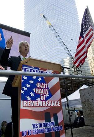 Ground Zero Mosque: Dutch rightwing politician Geert Wilders in New York City