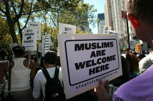Ground Zero Mosque: Supporters of the proposed mosque near Ground Zero