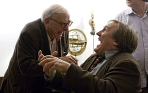 Claude Chabrol: 2009: Claude Chabrol and Gerard Depardieu on the set of 'Bellamy'