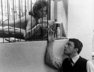 Claude Chabrol: 1959: Gerard Blain and Juliette Mayniel  in 'Les Cousins'