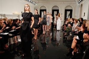 Victoria Beckham NY: Models at the Victoria Beckham's spring 2011 collection