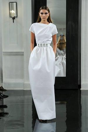 Victoria Beckham's spring collection 2011 at New York fashion week