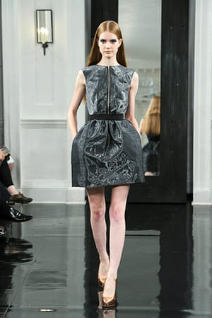 NY fashion week: Victoria Beckham's spring collection 2011