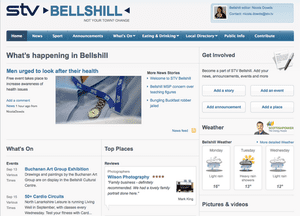 "STV Bellshill: one of six new ""hyperlocal"" websites launched by STV today"