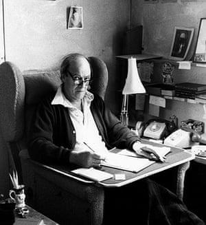 Roald Dahl Day: Roald Dahl in his now famous chair